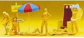 PREISER 10107 Nudistes et accessoires de plage