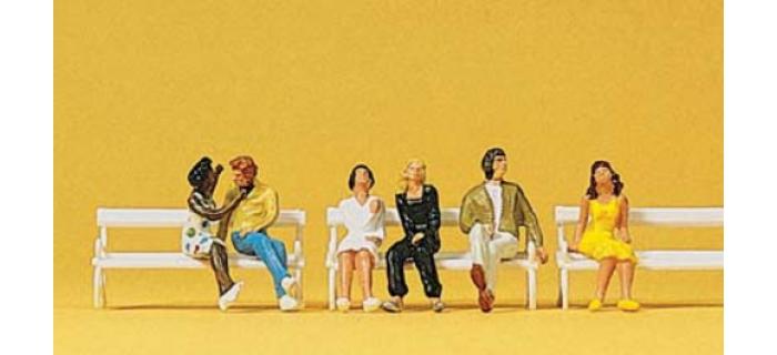 preiser 10180 couples assis modelisme ferroviaire diorama