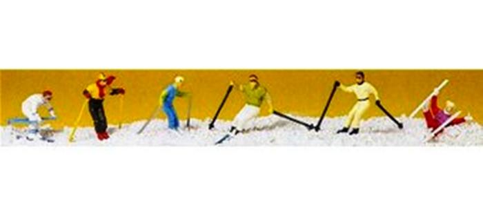 Modélsime ferroviaire : PREISER PR10313 - Skieurs ski alpin