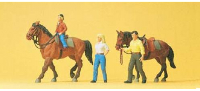PREISER 10500 Chevaux et cavaliers
