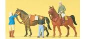 PREISER 10503 Personnages à l'école d'équitation