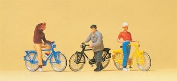 preiser 10515 diorama modelisme ferroviaire Cyclistes à l'arrêt