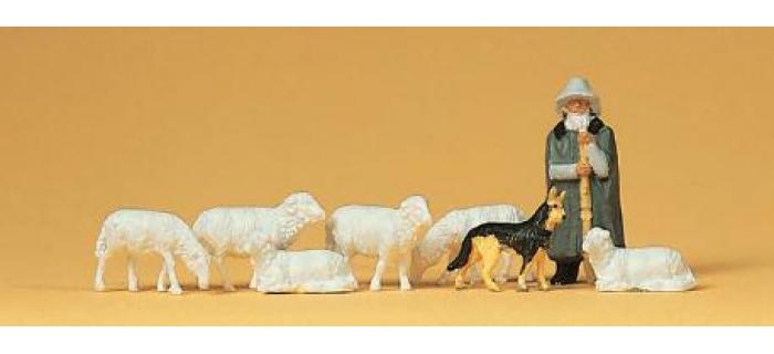 PREISER 14160 Moutons et bergers