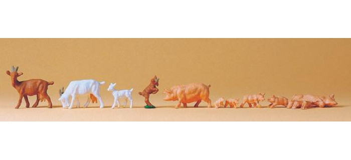 PREISER 14162 Chèvres et porcs