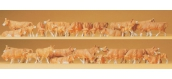 PREISER 14409 Vaches marrons