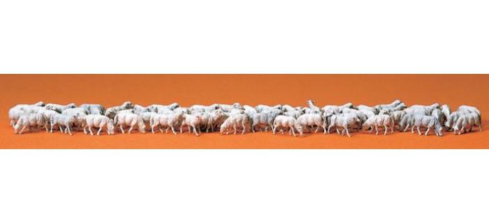 PREISER 14411 Troupeaux de moutons, 60 pièces