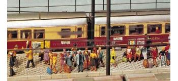 FIGURINES PREISER 16325 - Personnel de gare et voyageurs