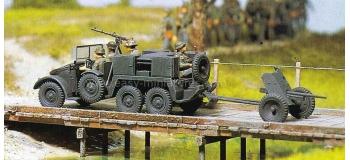 PREISER 16553 - Voiture militaire avec remorque canon