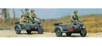 PREISER 16575 - Motos Side-car militaires avec personnages