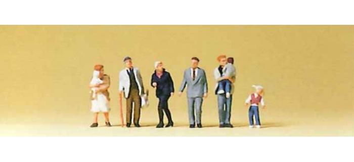 modelisme ferroviaire diorama preiser 79146 Passants avec enfants