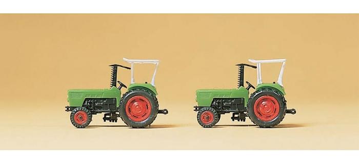 Modélisme ferroviaire : PREISER PR79506 - Tracteur de ferme DEUTZ D 6206 2 pièces