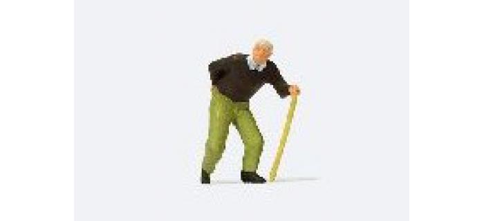 MODELISME FERROVIAIRE PREISER 28096 Homme agé avec une canne