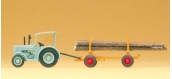 Modélisme ferroviaire : PREISER - PR79504 - Tracteur et remorque