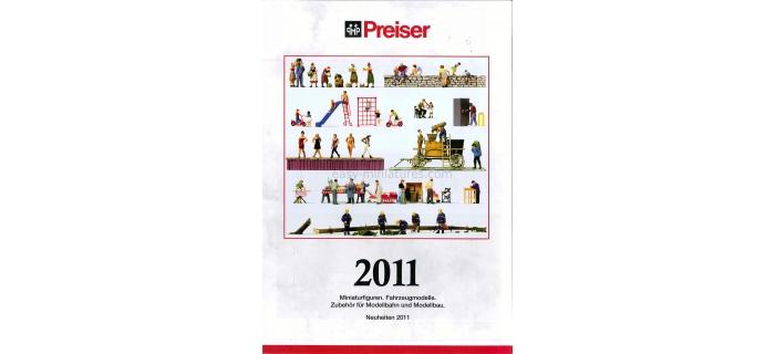 preiser PR93046 Dépliant Preiser - Nouveautés 2011