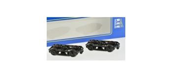 Train électrique :  REE XB-107-A-01 - Set de 2 Bogies Y16 E - 4 Boites SKF - Noirs