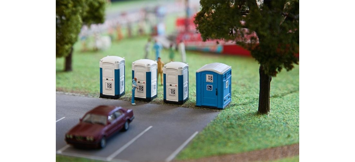 Modélisme ferroviaire : FALLER - F180543 - Toilettes Transportables