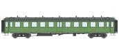 Modélisme ferroviaire : REE VB-211-1 - Voiture « Bacalan » châssis et toit noir, Vert PLM Ep.II