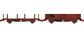 Modélisme ferroviaire : REE WB-485 - Set de 2 Wagonnets de Draisine (Plat à ranchers + Tombereau) Ep.III