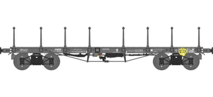 Modélisme ferroviaire : REE WB-509 - Wagon PLAT TP ranchers longs Ep.II PLM Ryw 37439
