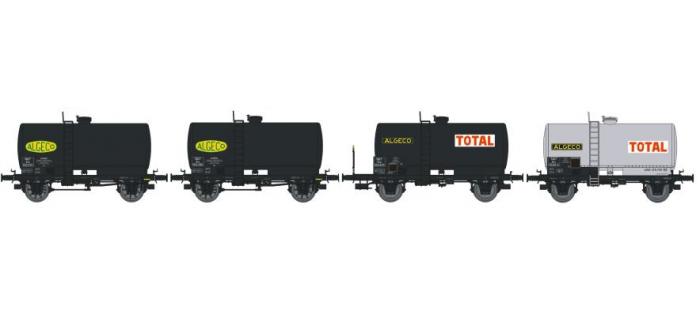 REE MODELE NW-008 Coffret 4 wagons citerne soudée OCEM 29