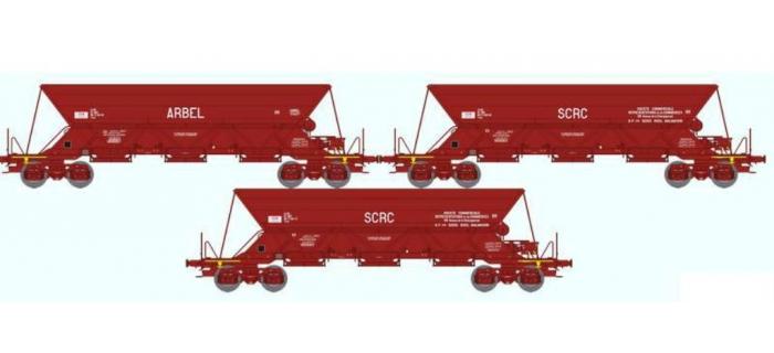 REE NW-029 - Coffret de 3 wagons TREMIE EX T1 Ep.IV