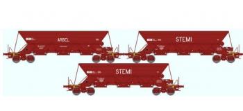 REE NW-030 - Coffret de 3 wagons TREMIE EX Ep.IV/V