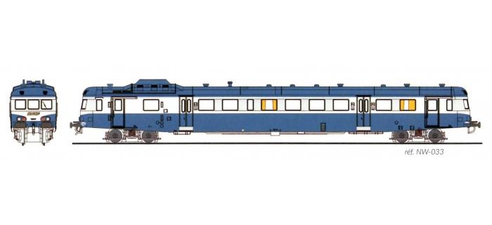 Modélisme ferroviaire : REE NW-033 - Autorail X-2816 Dépôt de LIMOGES Logo Bleu Ep. IV-V