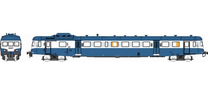 Modélisme ferroviaire : REE NW-034 - Autorail X-2887 Dépôt de TOULOUSE Logo Nouille Bleu Ep. IV-V