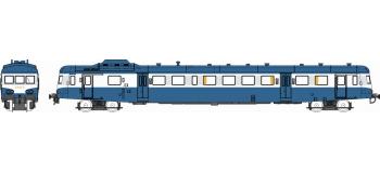 Modélisme ferroviaire : REE NW-035 - Autorail X-2896 Dépôt de LYON VAISE Logo Plaque Bleu Ep. IV-V