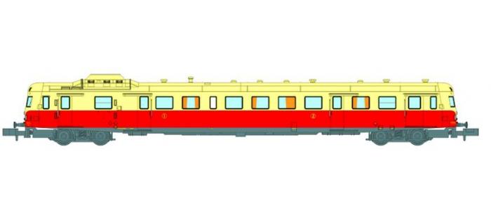 Modélisme ferroviaire : REE NW-039 - Autorail X-2803 Dépôt de LYON VAISE Origine Toit Crème Ep.III