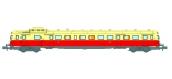 Modélisme ferroviaire : REE NW-040 - Autorail X-2861 Dépôt de CAEN Toit Crème Ep.IV
