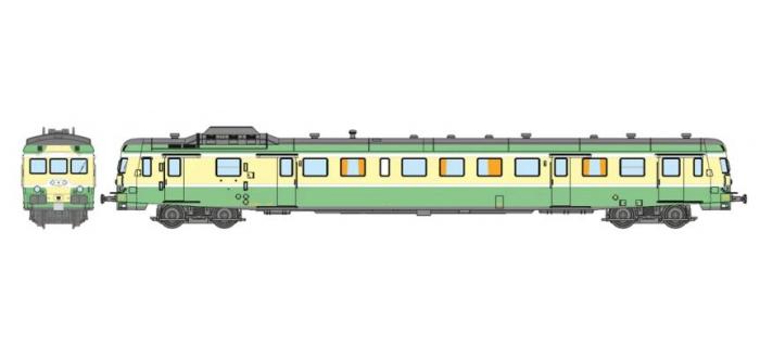 Modélisme ferroviaire : REE NW-058 - Autorail X-2914 – dépôt de RENNES livrée verte Ep.III-IV