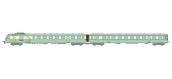 Modélisme ferroviaire : REE NW-133 -RGP 1 vert avec fanaux d'angle, Remorque avec Cuisine Ep.III
