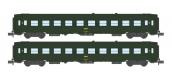 Modélisme ferroviaire : NW-137 - Coffret de 2 voitures UIC B10 Vert Logo jaune encadré Ep.IV