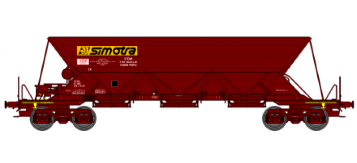 "REE  NW017 - Wagon trémie EX T1, ""SIMOTRA"""