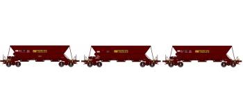 "REE NW020 - Coffret 3 wagons trémie EX, ""SIMOTRA"""