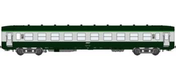 Train électrique REE VB-040 - Voiture DEV AO Courtes Ep.IV-V Vert - Gris béton Cartouche Corail