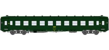Train électrique REE VB-042 - Voiture DEV AO Courtes Ep.IV Vert Logo jaune encadré