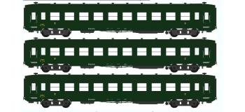 Train électrique REE VB-043 - Coffret 3 voitures DEV AO Courtes Ep.III B