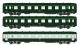 Train électrique : REE VB-055 - Coffret 3 voitures DEV AO Courtes Ep.IV-V Vert garigue - Gris béton Cartouche Corail
