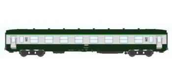 Train électrique : REE VB-056 - Voitures DEV AO Courte Ep.IV-V Vert garigue - Gris béton Cartouche Corai