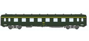Train électrique : REE VB-058 - Voiture DEV AO Courte Ep.IV Vert Logo jaune encadré