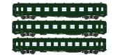 Train électrique : REE VB-059 - Coffret 3 voitures DEV AO Courtes Ep.III A