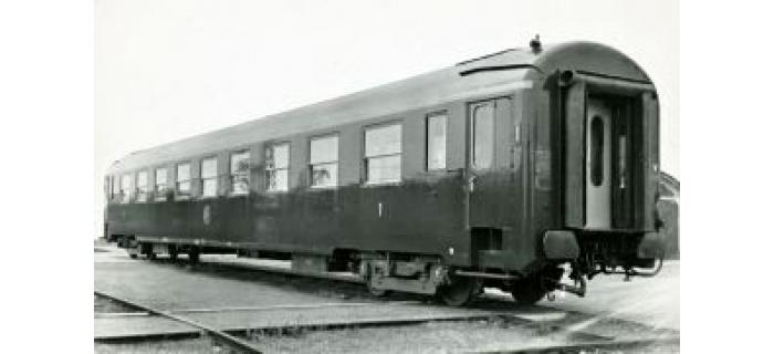 Modélisme ferroviaire : REE VB-066 - Coffret de 3 voitures UIC Ep.IV Vert Logo jaune encadré