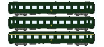 Modélisme ferroviaire : REE VB-064 - Coffret de 3 voitures UIC Ep.III Logo rond