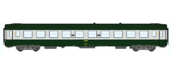 REE VB-069 - Voiture UIC B10 Ep.IV-Vert-Aluminium livrée 160