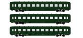 Modélisme ferroviaire :  REE VB-129 - Coffret 3 voitures DEV AO Courtes Ep.IIIB V
