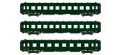 Modélisme ferroviaire : REE VB-137 - Coffret de 3 voitures DEV AO Courtes Ep.III A