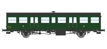 Modélisme ferroviaire : REE VB-153 - Voiture Sud-Ouest, petites gouttières, porte-lanternes modernes(B6t) – Epoque III-B