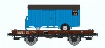 Train électrique : REE WB-053 - Wagon UFR Mono-porteur Ep.III - Remorque Bleue